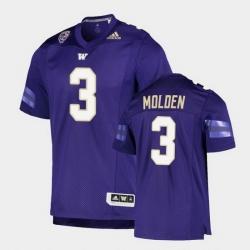 Men Washington Huskies Elijah Molden College Football Purple Game Jersey