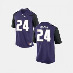 Men Washington Huskies Ezekiel Turner College Football Purple Jersey