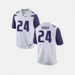 Men Washington Huskies Ezekiel Turner College Football White Jersey