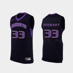 Men Washington Huskies Isaiah Stewart Black Replica College Basketball Jersey