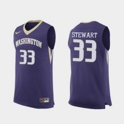 Men Washington Huskies Isaiah Stewart Purple Replica College Basketball Jersey