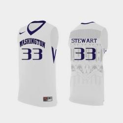 Men Washington Huskies Isaiah Stewart White Replica College Basketball Jersey
