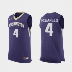 Men Washington Huskies Jaden Mcdaniels Purple Replica College Basketball Jersey