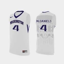 Men Washington Huskies Jaden Mcdaniels White Replica College Basketball Jersey