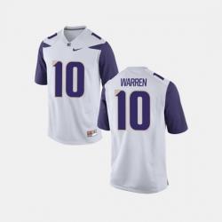 Men Washington Huskies Jusstis Warren College Football White Jersey