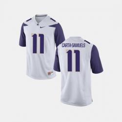 Men Washington Huskies K.J. Carta Samuels College Football White Jersey