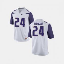 Men Washington Huskies Kamari Pleasant College Football White Jersey