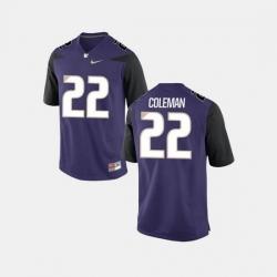 Men Washington Huskies Lavon Coleman College Football Purple Jersey