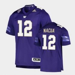 Men Washington Huskies Puka Nacua College Football Purple Game Jersey