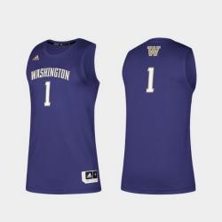 Men Washington Huskies Purple Swingman Basketball Jersey