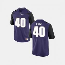 Men Washington Huskies Ralph Kinne College Football Purple Jersey