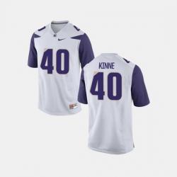 Men Washington Huskies Ralph Kinne College Football White Jersey