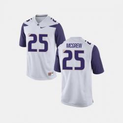 Men Washington Huskies Sean Mcgrew College Football White Jersey