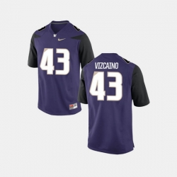Men Washington Huskies Tristan Vizcaino College Football Purple Jersey