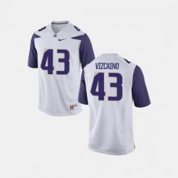 Men Washington Huskies Tristan Vizcaino College Football White Jersey