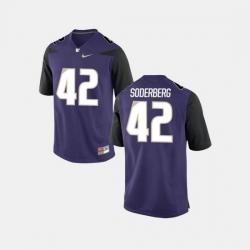 Men Washington Huskies Van Soderberg College Football Purple Jersey