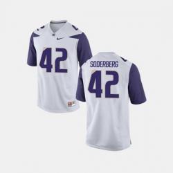 Men Washington Huskies Van Soderberg College Football White Jersey