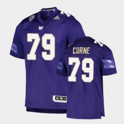 Men Washington Huskies Victor Curne College Football Purple Game Jersey