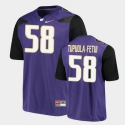Men Washington Huskies Zion Tupuola Fetui Alumni Football Game Purple Jersey