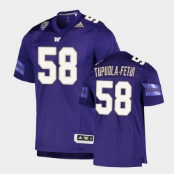 Men Washington Huskies Zion Tupuola Fetui College Football Purple Game Jersey
