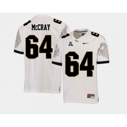 Men Ucf Knights Justin Mccray White College Football Aac Jersey