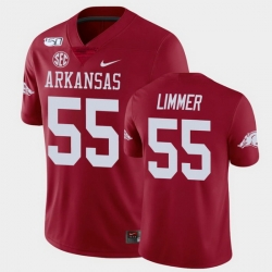 Men Arkansas Razorbacks Beaux Limmer College Football Cardinal Game Jersey