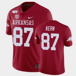 Men Arkansas Razorbacks Blake Kern College Football Cardinal Game Jersey