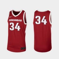 Men Arkansas Razorbacks Cardinal Replica College Basketball Nike Jersey