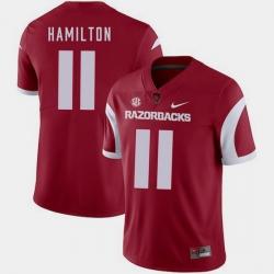 Men Arkansas Razorbacks Cobi Hamilton Cardinal College Football 2018 Game Jersey