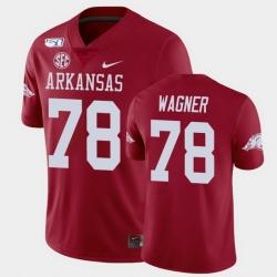 Men Arkansas Razorbacks Dalton Wagner College Football Cardinal Game Jersey
