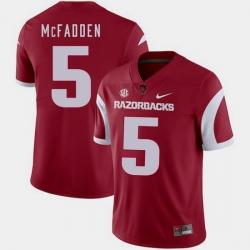 Men Arkansas Razorbacks Darren Mcfadden Cardinal College Football 2018 Game Jersey