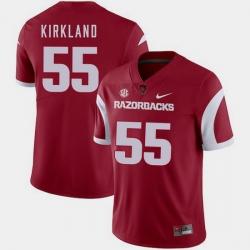 Men Arkansas Razorbacks Denver Kirkland Cardinal College Football 2018 Game Jersey