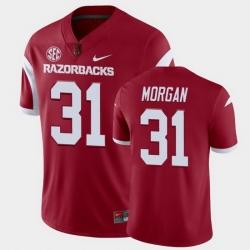 Men Arkansas Razorbacks Grant Morgan College Football Cardinal Playoff Game Jersey