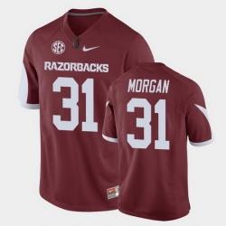 Men Arkansas Razorbacks Grant Morgan Game Cardinal Replica Football Jersey