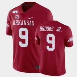 Men Arkansas Razorbacks Greg Brooks Jr. College Football Cardinal Game Jersey