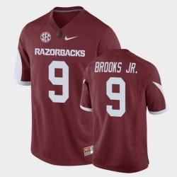 Men Arkansas Razorbacks Greg Brooks Jr. Game Cardinal Replica Football Jersey