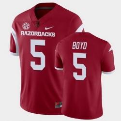 Men Arkansas Razorbacks Rakeem Boyd College Football Cardinal Playoff Game Jersey
