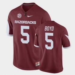 Men Arkansas Razorbacks Rakeem Boyd Game Cardinal Replica Football Jersey