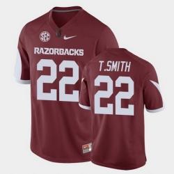 Men Arkansas Razorbacks Trelon Smith Game Cardinal Replica Football Jersey