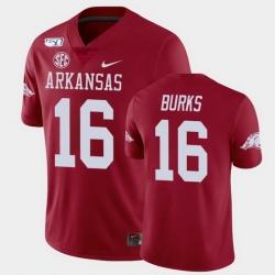 Men Arkansas Razorbacks Treylon Burks College Football Cardinal Game Jersey