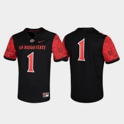 Men San Diego State Aztecs 1 Black Untouchable Game Jersey