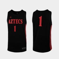 Men San Diego State Aztecs Black Replica College Baketball Jersey