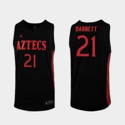Men San Diego State Aztecs Jared Barnett Replica Black College Baketball 2019 20 Jersey