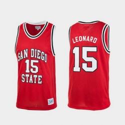 Men San Diego State Aztecs Kawhi Leonard Red Authentic College Basketball Jersey