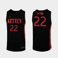 Men San Diego State Aztecs Malachi Flynn Replica Black College Baketball 2019 20 Jersey