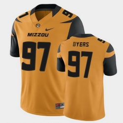 Men Missouri Tigers Akial Byers College Football Gold Game Jersey