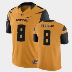 Men Missouri Tigers Connor Bazelak College Football Gold Game Jersey