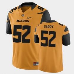 Men Missouri Tigers Myles Eaddy College Football Gold Game Jersey