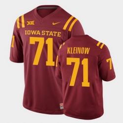 Men Iowa State Cyclones Alex Kleinow College Football Cardinal Replica Jersey