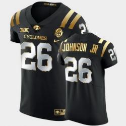 Men Iowa State Cyclones Anthony Johnson Jr. 2021 Fiesta Bowl Black Golden Edition Jersey